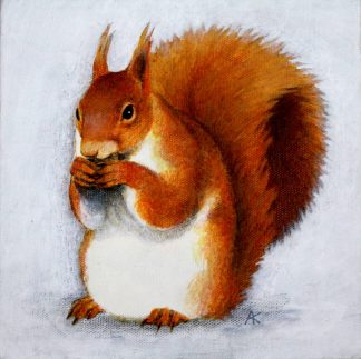 Red Squirrel Acrylic on Canvas