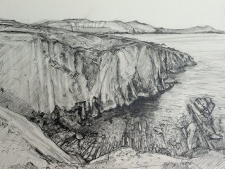 Allihies Coastline Pencil