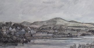 View to Castletownbere Pencil Painting